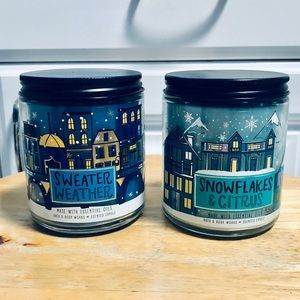 Bath and Body Works single wick candles x2
